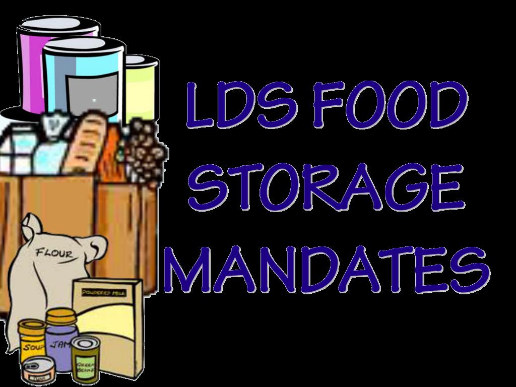 Evolving Food Storage Mandates   Life After Ministry